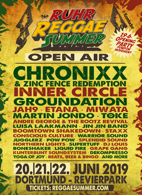 "Screenshot des Line up Flyers ""Ruhr Reggae Summer 2020"""